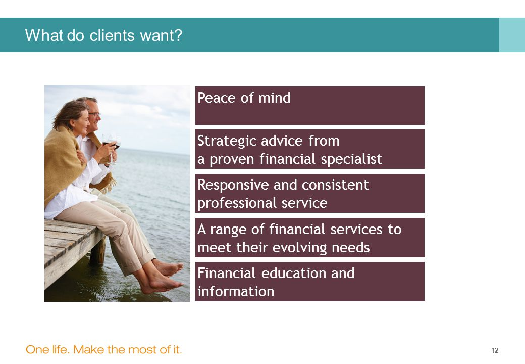 12 What do clients want.