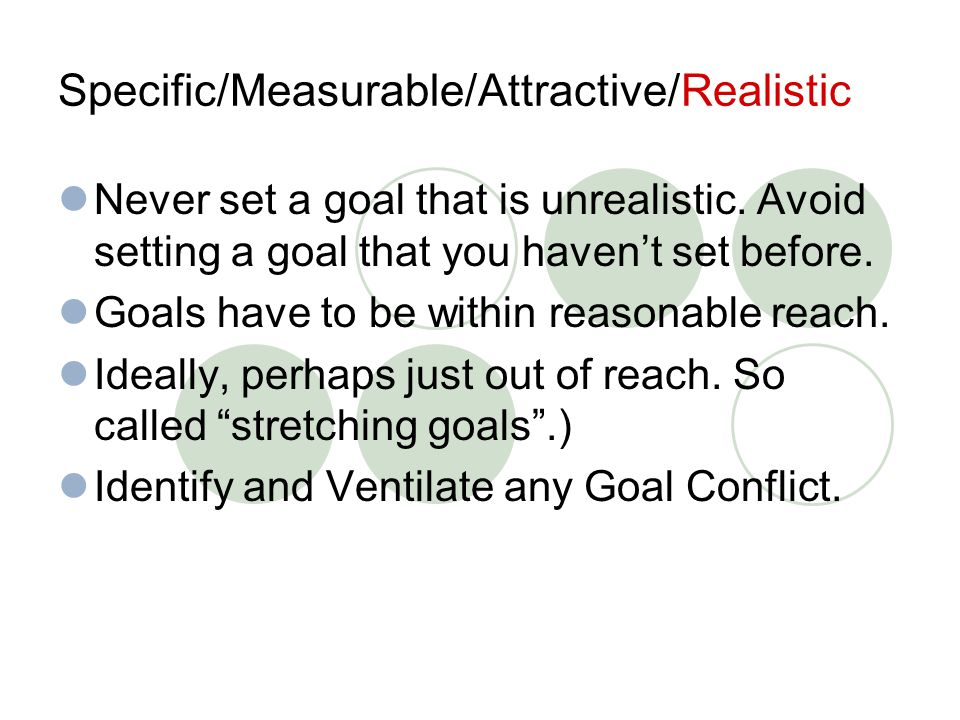 Goal setting.or Wishful thinking. Unrealistic, wishful thinking leads to disappointment.