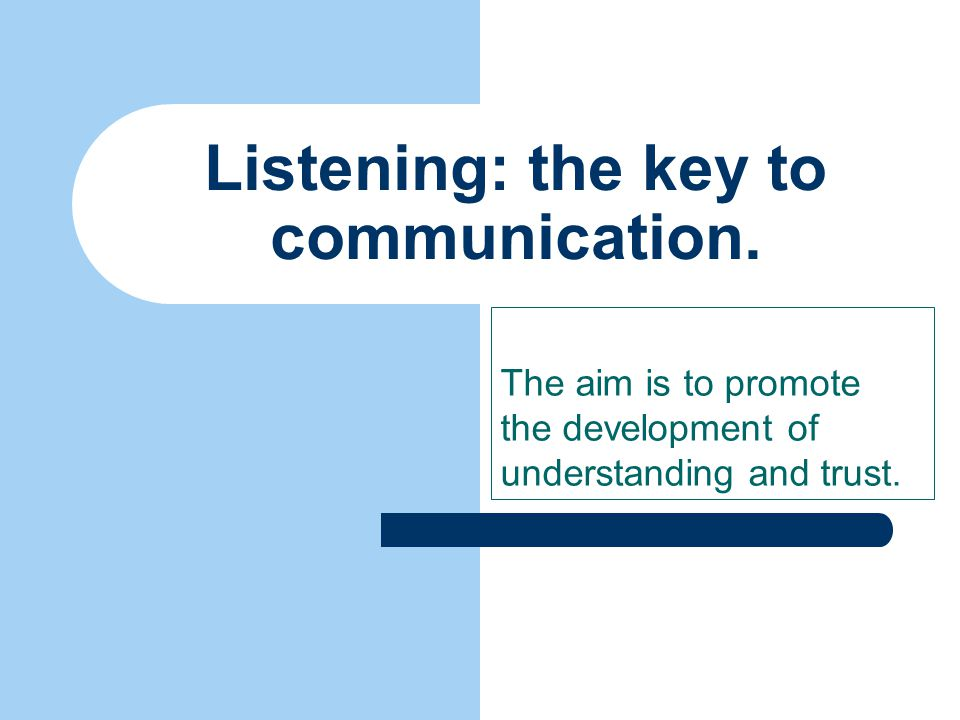 Listening for more than the presenting problem. Be on the lookout for the deeper issues.