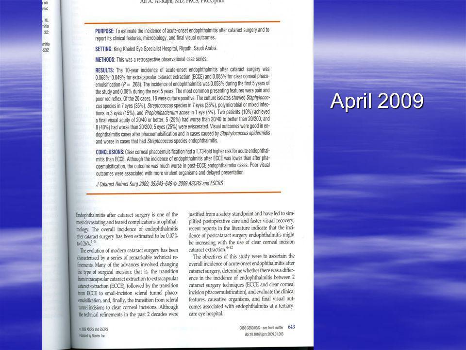 April 2009 April 2009