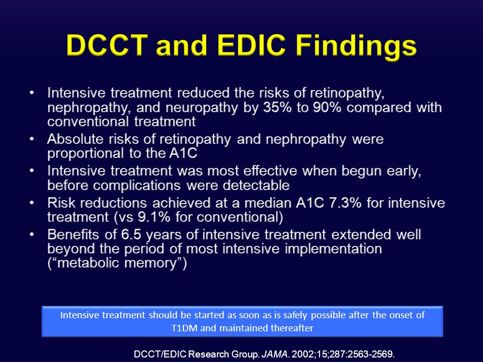 DCCT/EDIC Research Group. JAMA. 2002;15;287:2563-2569.