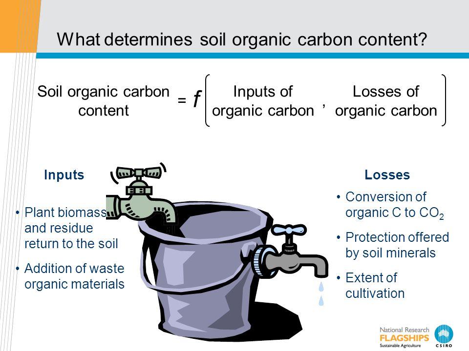 What determines soil organic carbon content.