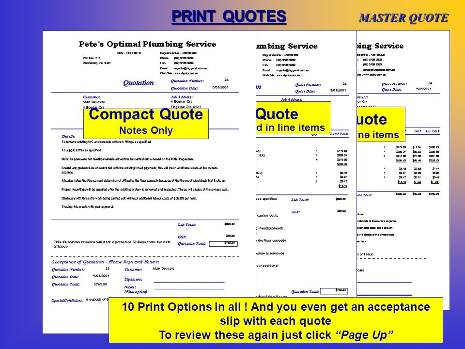NEW QUOTES- Quote Summary This page is designed specifically for directions on using the Quote Summary field.