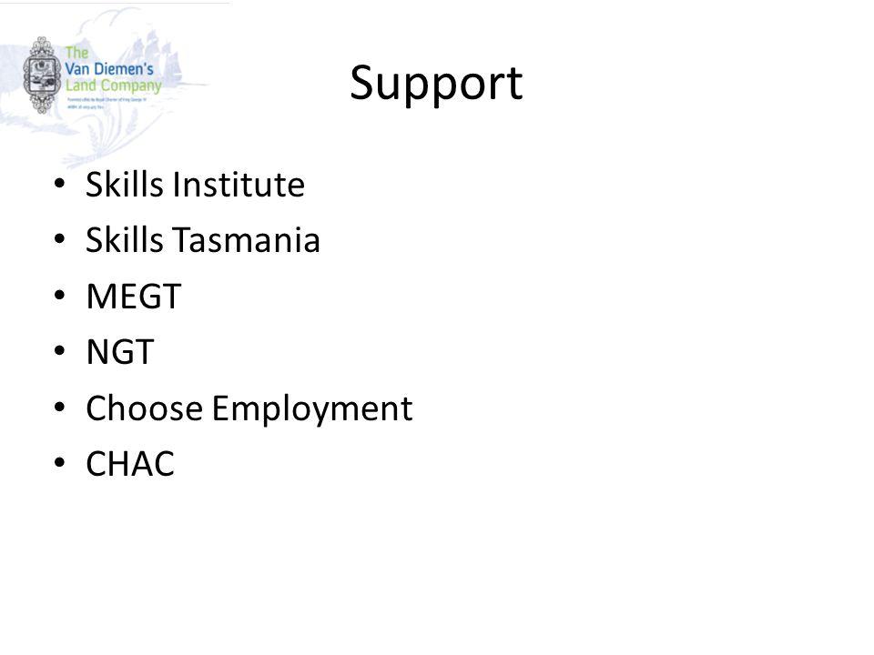Support Skills Institute Skills Tasmania MEGT NGT Choose Employment CHAC