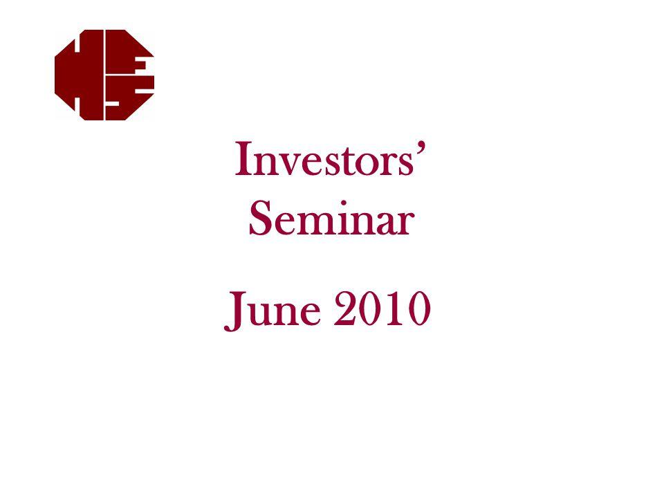Investors' Seminar June 2010