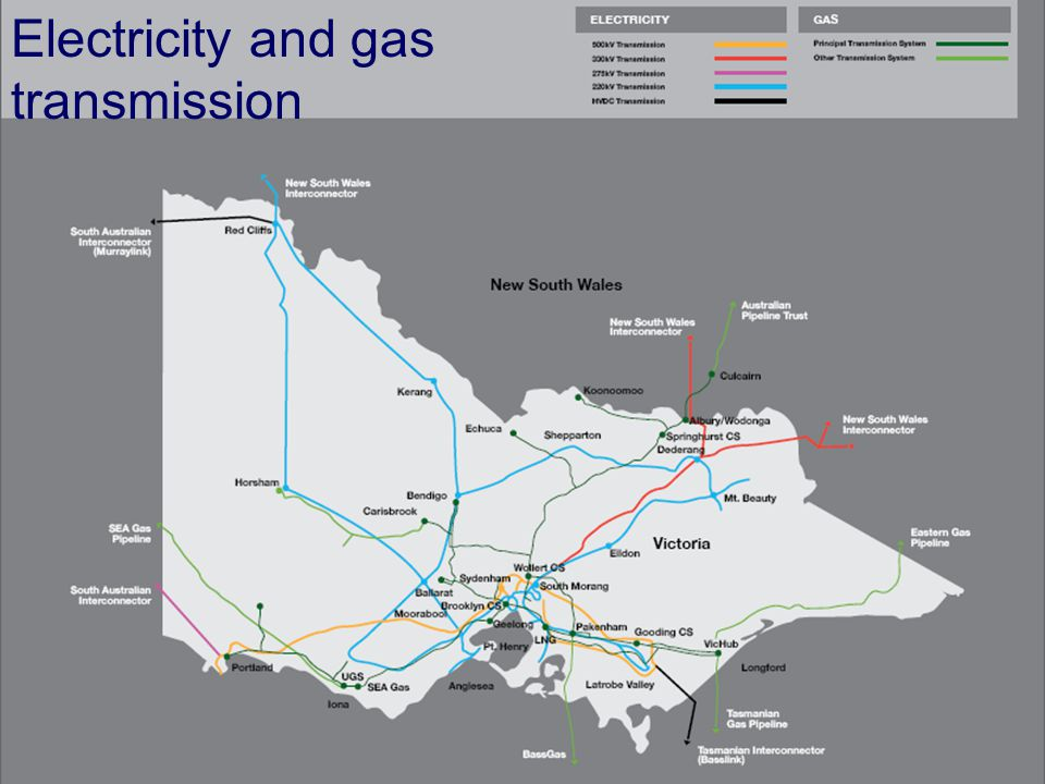 Electricity and gas transmission