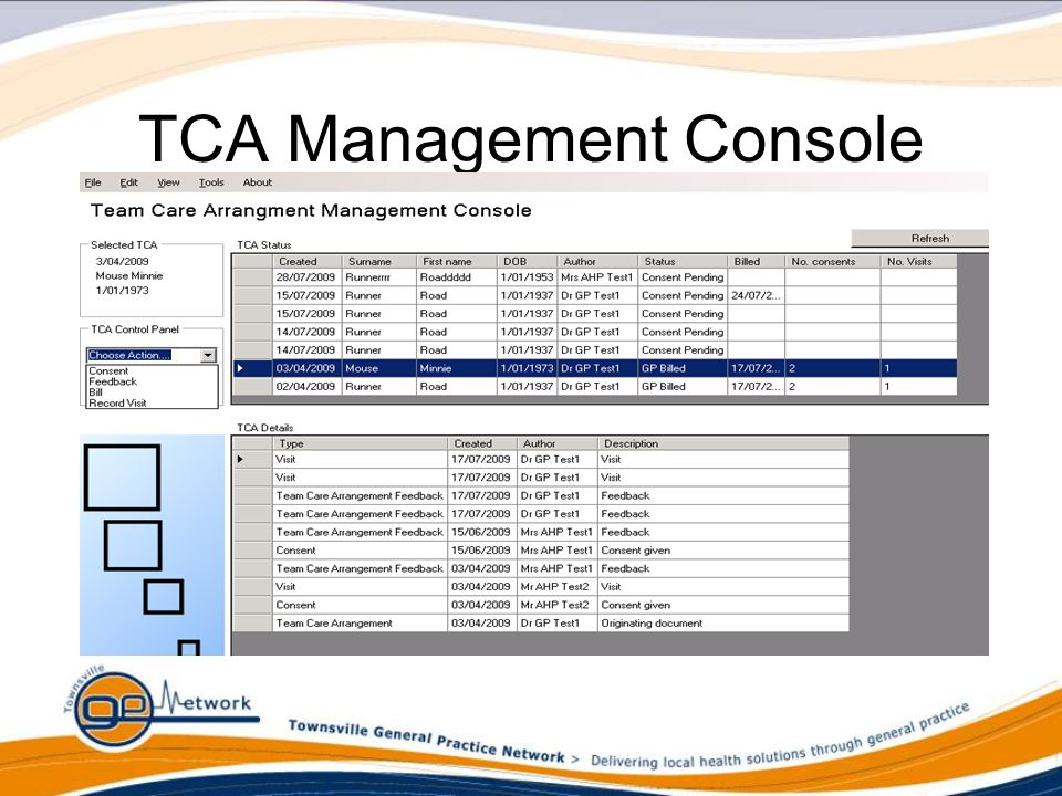 TCA Management Console