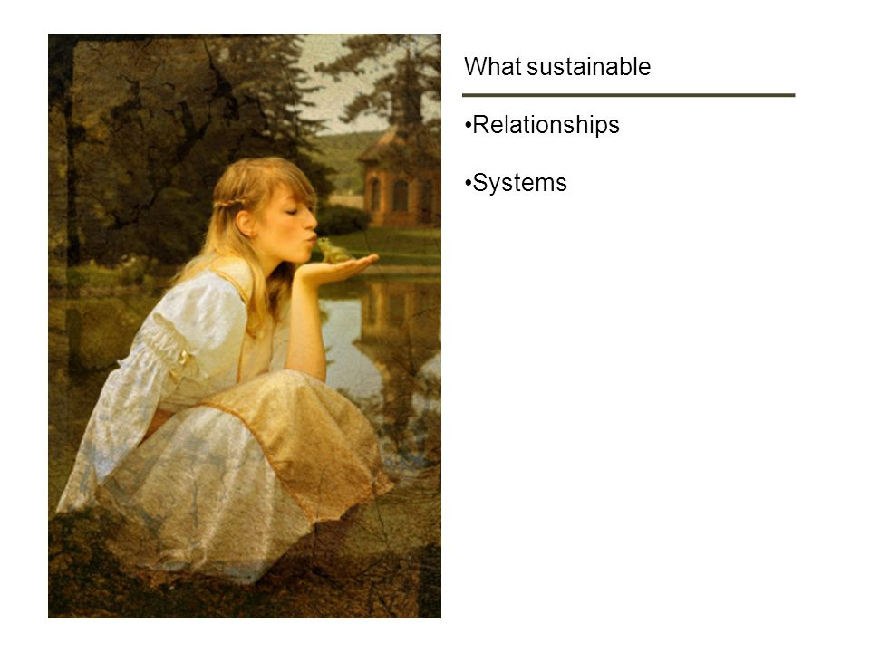 What sustainable Relationships Systems