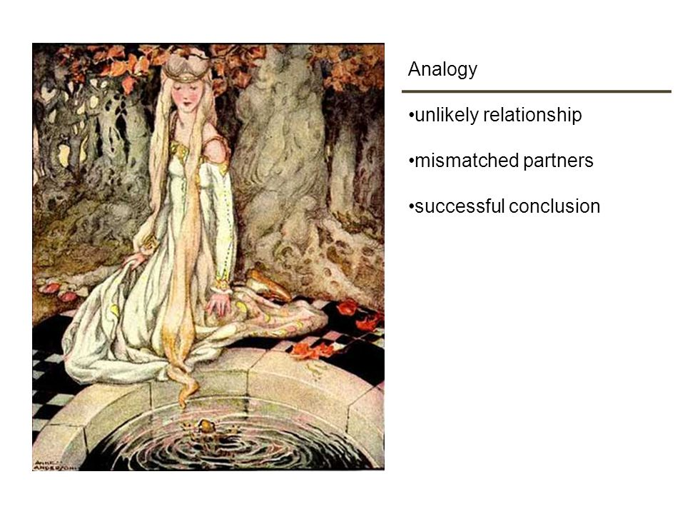 Analogy unlikely relationship mismatched partners successful conclusion