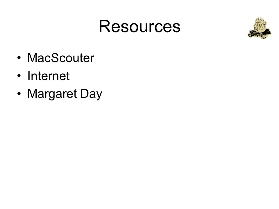 Resources MacScouter Internet Margaret Day