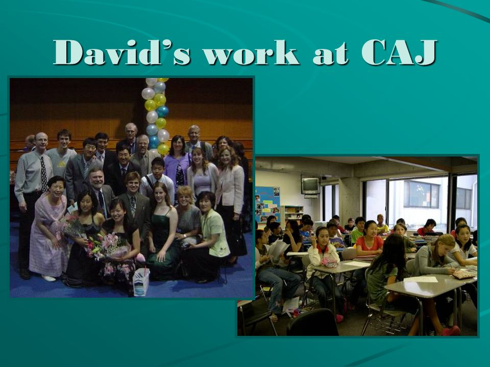 David's work at CAJ