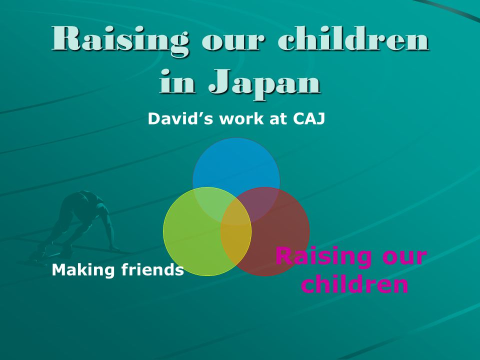 Raising our children in Japan David's work at CAJ Raising our children Making friends
