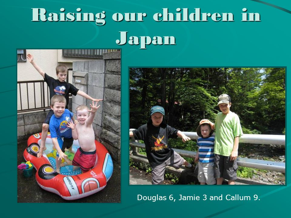 David's work at CAJ David's work at the Christian Academy in Japan Raising our children Making friends
