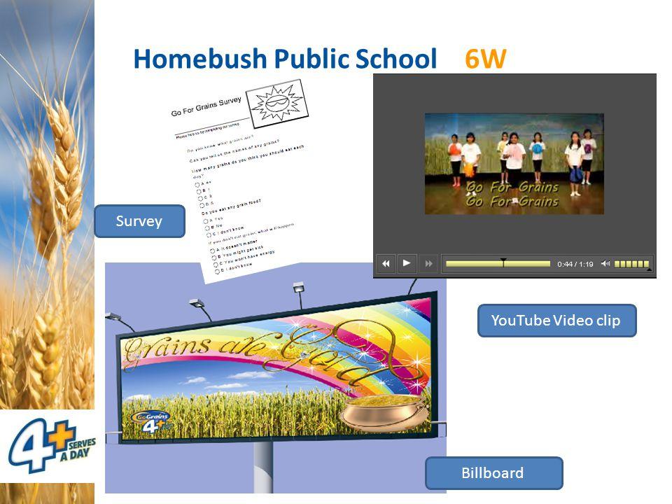 Homebush Public School 6W Billboard Survey YouTube Video clip