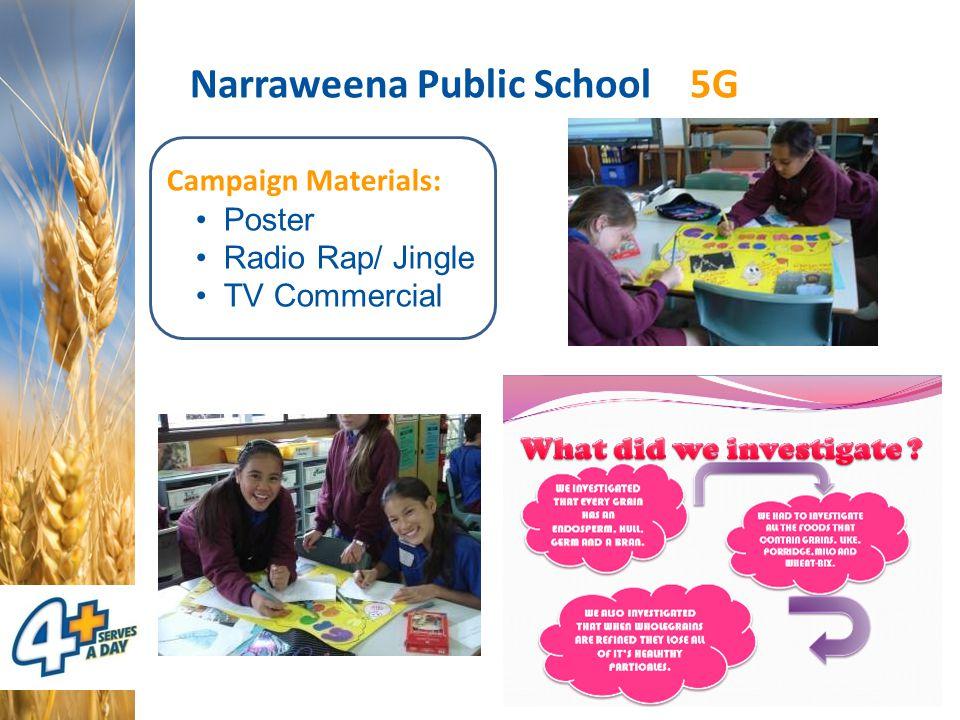 Narraweena Public School 5G Campaign Materials: Poster Radio Rap/ Jingle TV Commercial