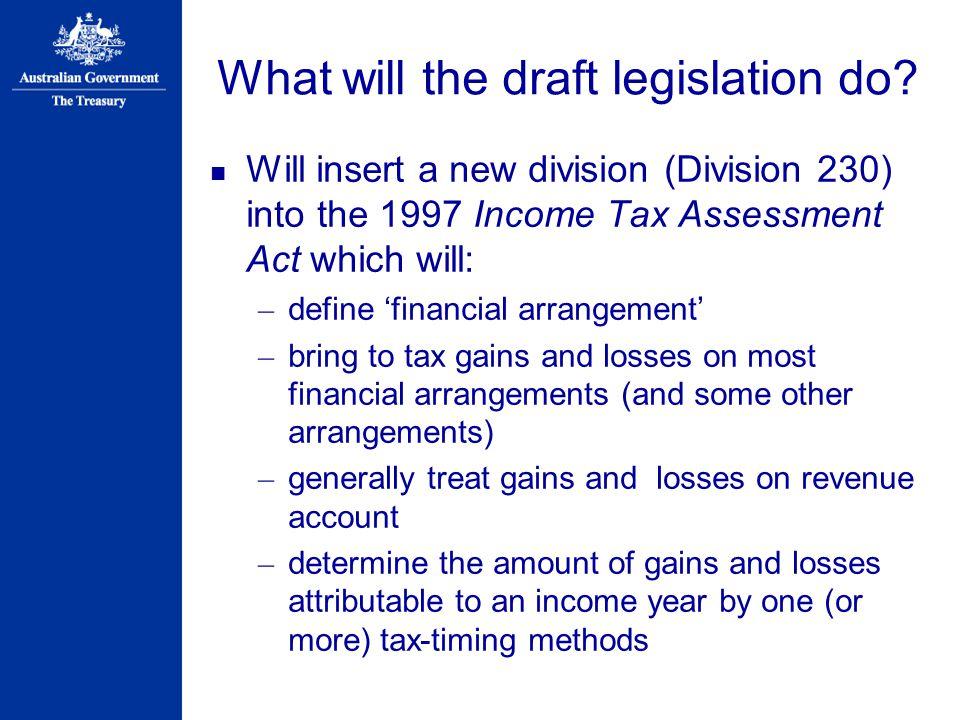 What will the draft legislation do.