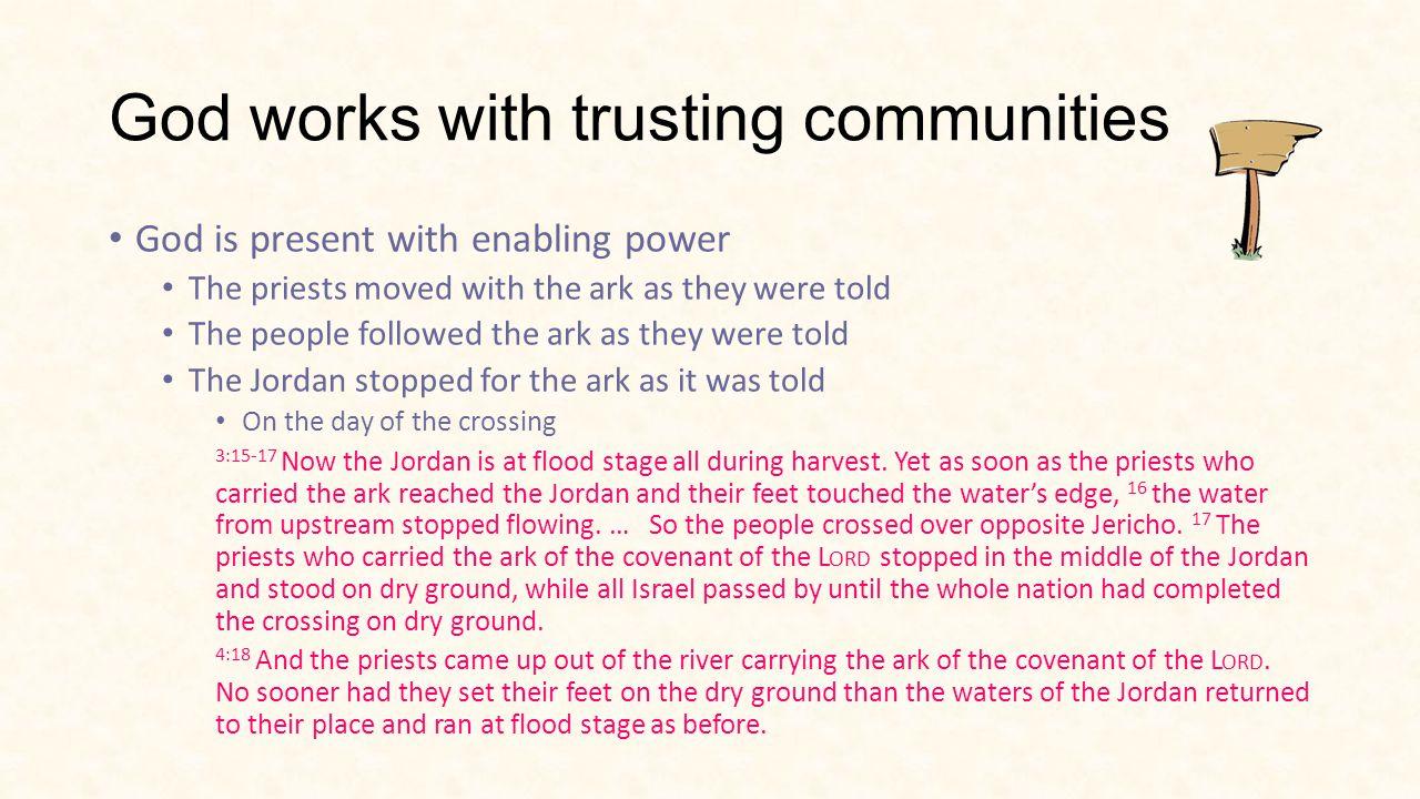 Going in needs Trustworthy leaders In step God enabled Mobilising leaders Delegators Visionaries Trusting Community In step God enabled