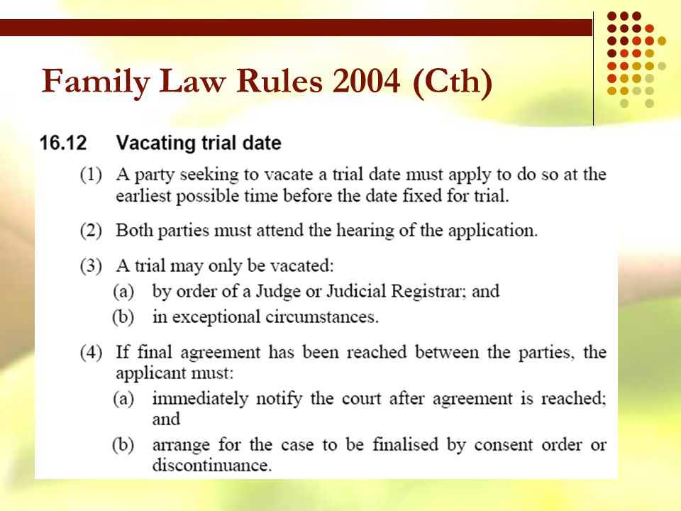 Family Law Rules 2004 (Cth)