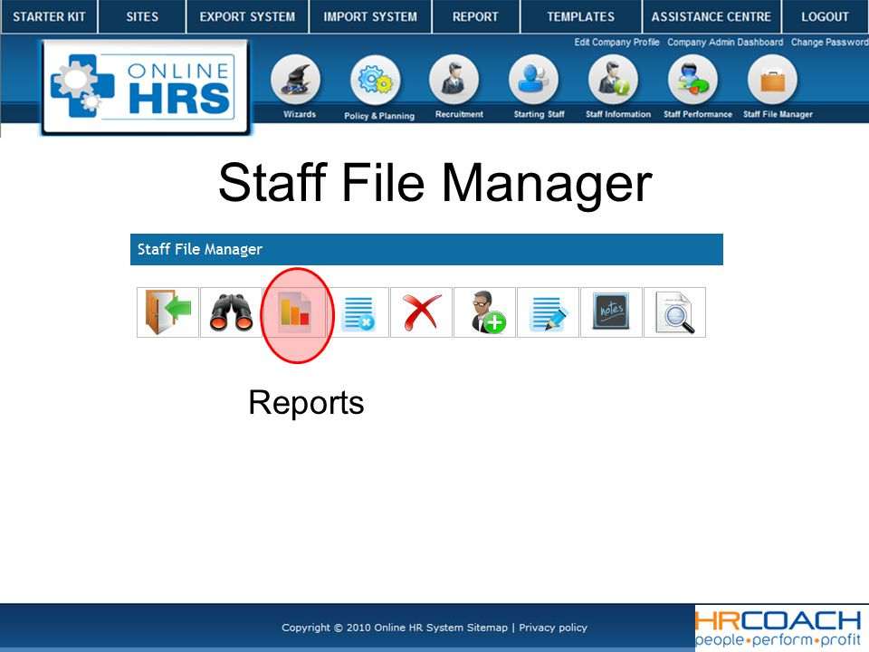 Reports Staff File Manager