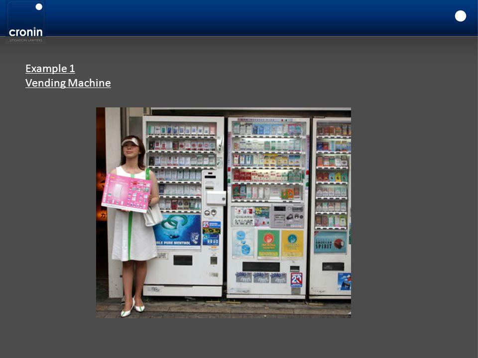 Example 1 Vending Machine
