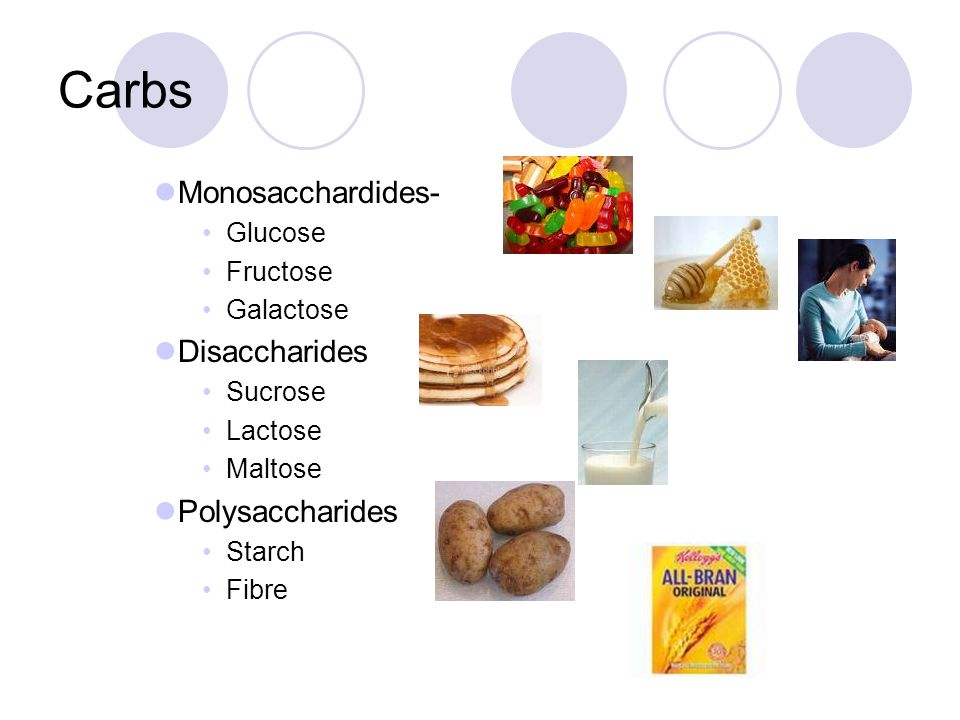 Nutrients Macronutrients  Carbohydrates Monosaccardides- Glucose, Fructose, galactose Disaccharides- Sucrose, Lactose, Maltose Polysaccharides Plant