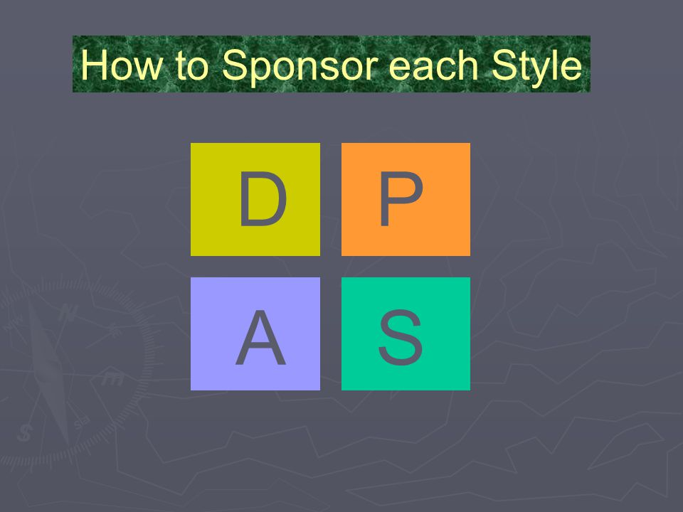 DP AS How to Sponsor each Style