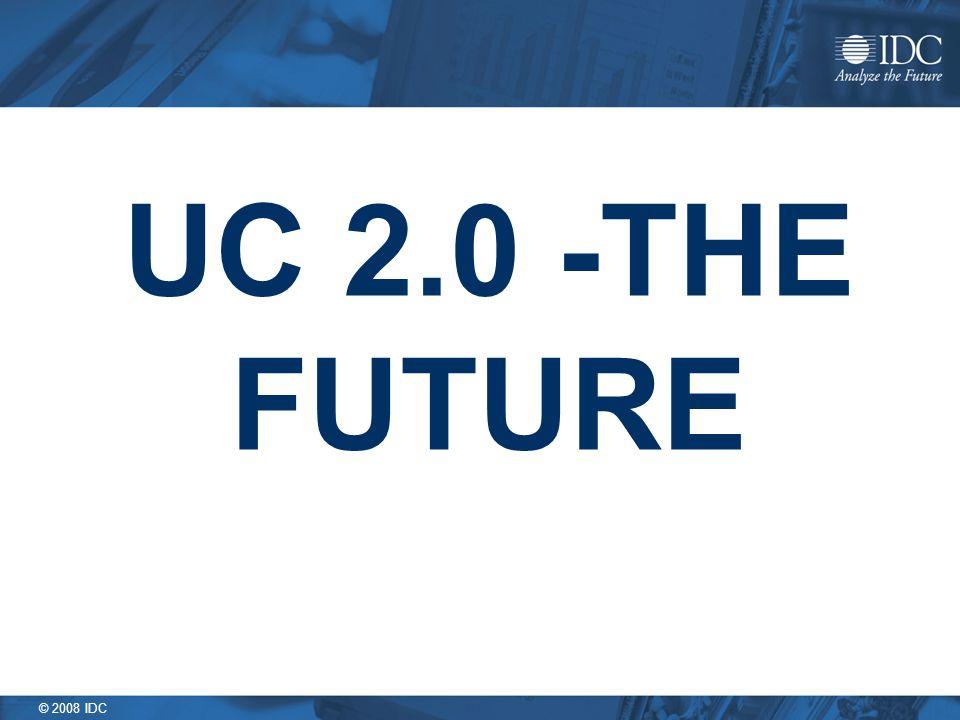 © 2008 IDC UC 2.0 -THE FUTURE