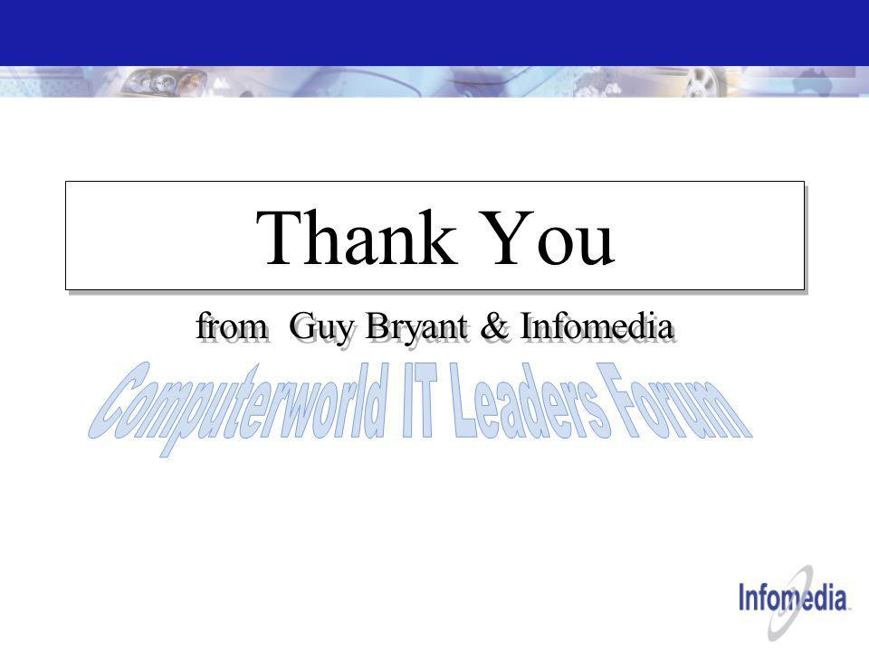 Thank You from Guy Bryant & Infomedia