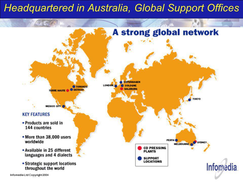 Infomedia Ltd Copyright 2004 Headquartered in Australia, Global Support Offices