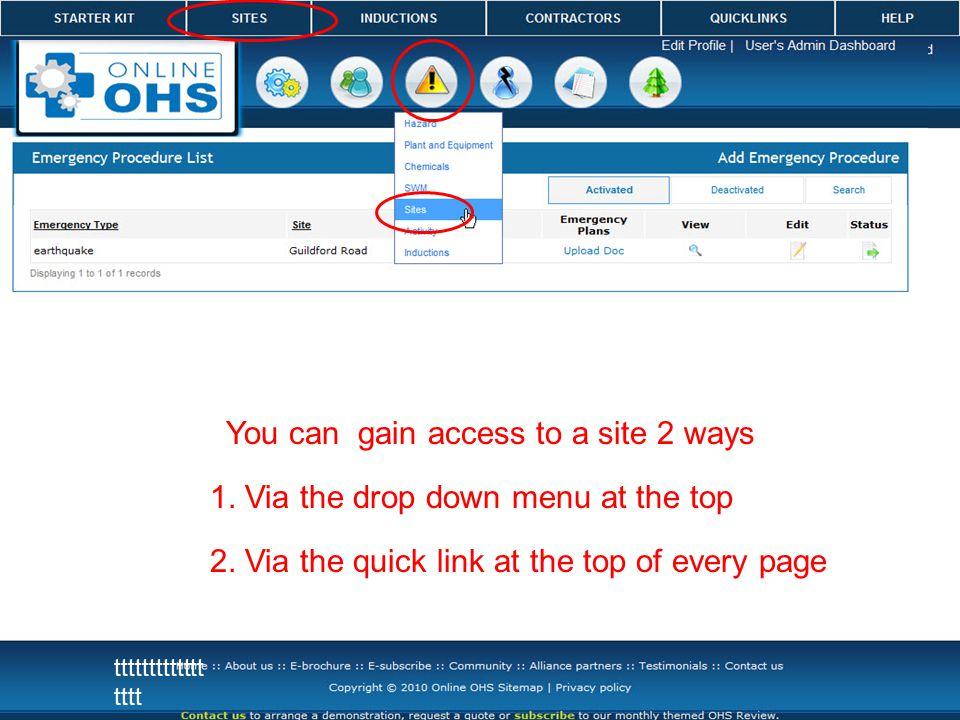 ttttttttttttt tttt You can gain access to a site 2 ways 1.