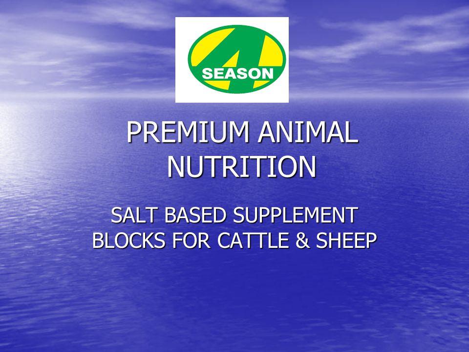 SALT BASED SUPPLEMENT BLOCKS FOR CATTLE & SHEEP PREMIUM ANIMAL NUTRITION
