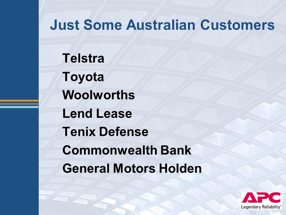 Just Some Australian Customers Telstra Toyota Woolworths Lend Lease Tenix Defense Commonwealth Bank General Motors Holden