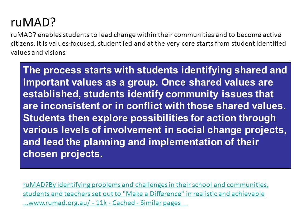 After becoming aware of a significant question, issue or problem, students may reach a state of puzzlement, curiosity and/or concern and feel challenged to enquire further.