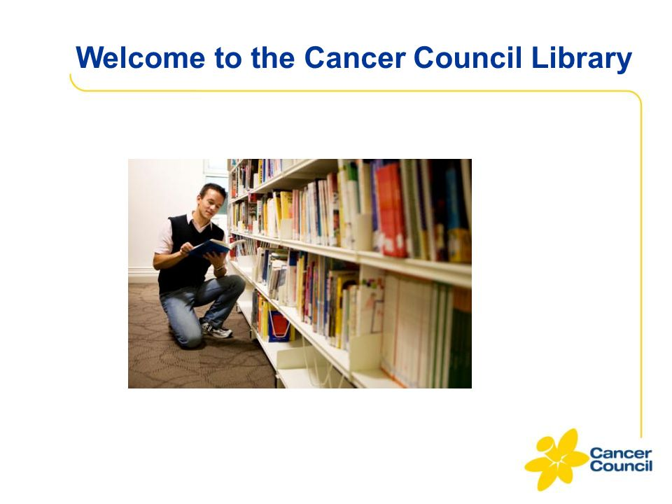 Welcome to the Cancer Council Library