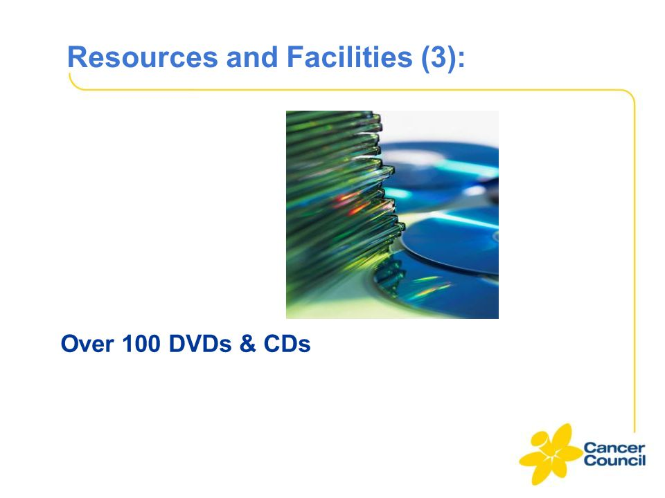 Resources and Facilities (3): Over 100 DVDs & CDs