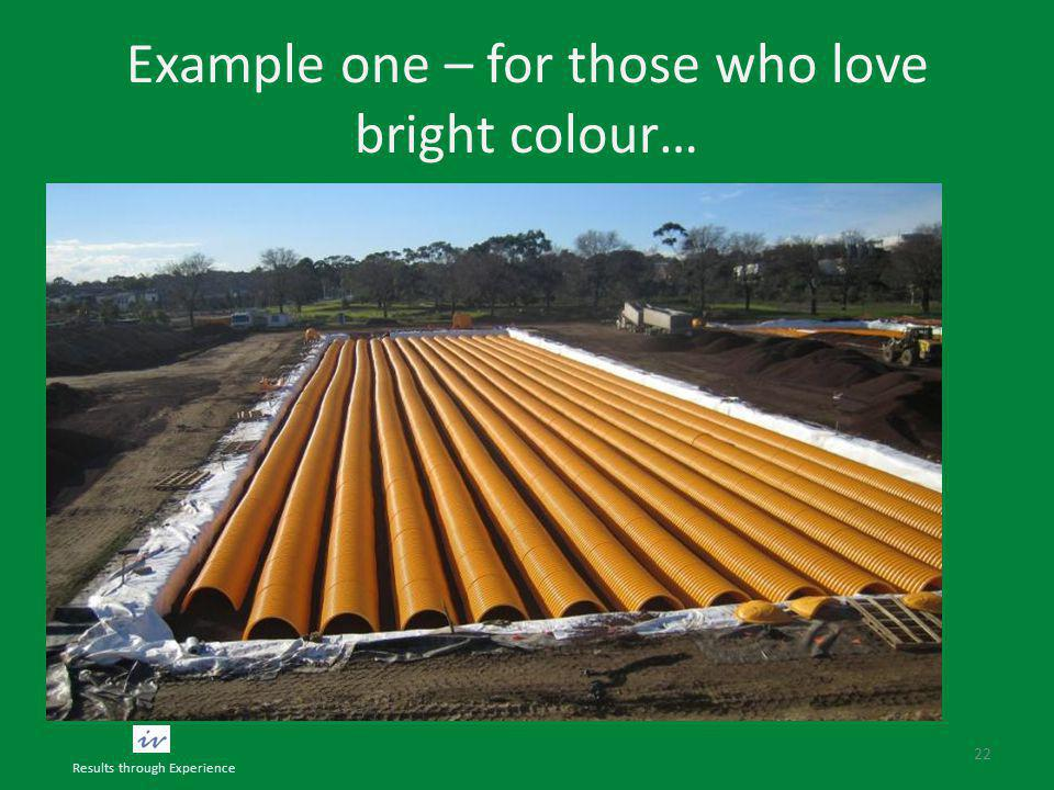Example one – for those who love bright colour… 22 Results through Experience