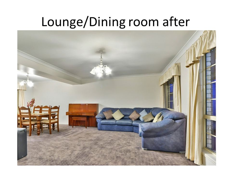 Lounge/Dining room after
