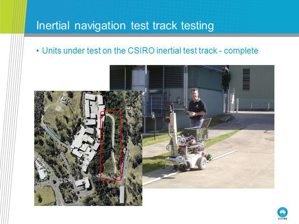 Inertial navigation test track testing Units under test on the CSIRO inertial test track - complete