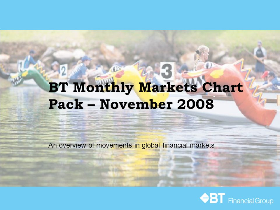BT Monthly Markets Chart Pack – November 2008 An overview of movements in global financial markets