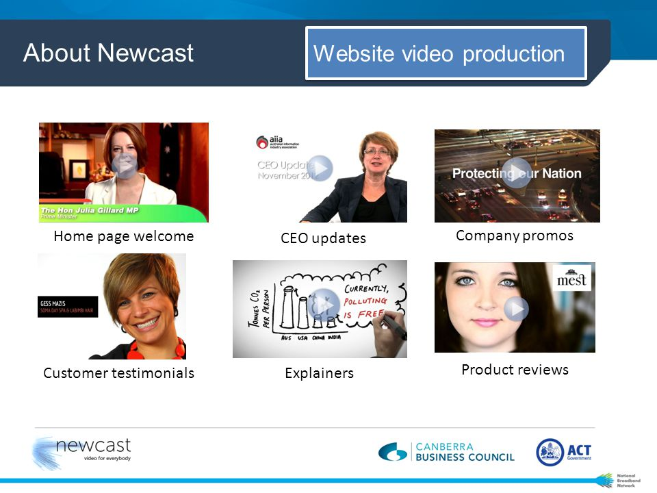 About Newcast Video production studio design & video training