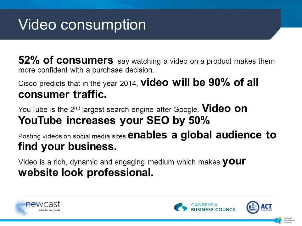 The end of TV? Broadcast TV vs. Online Video Broadcast TV vs. Online Video