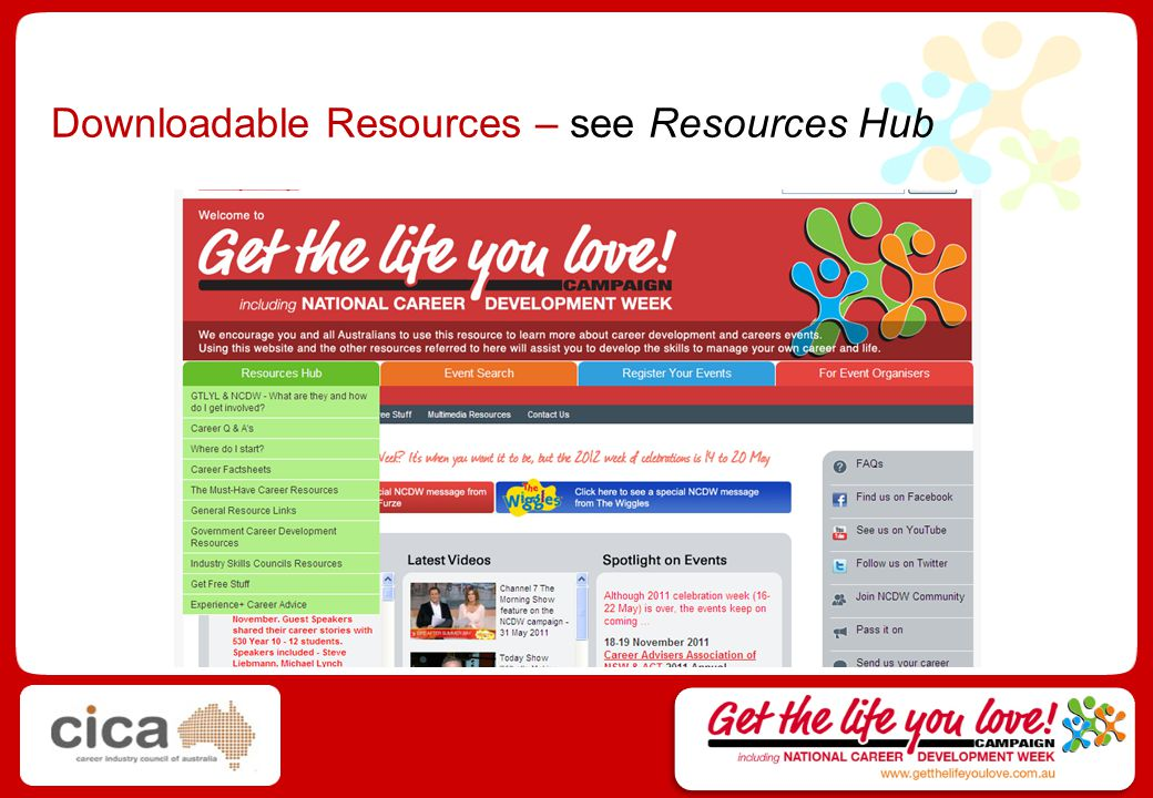 Downloadable Resources – see Resources Hub