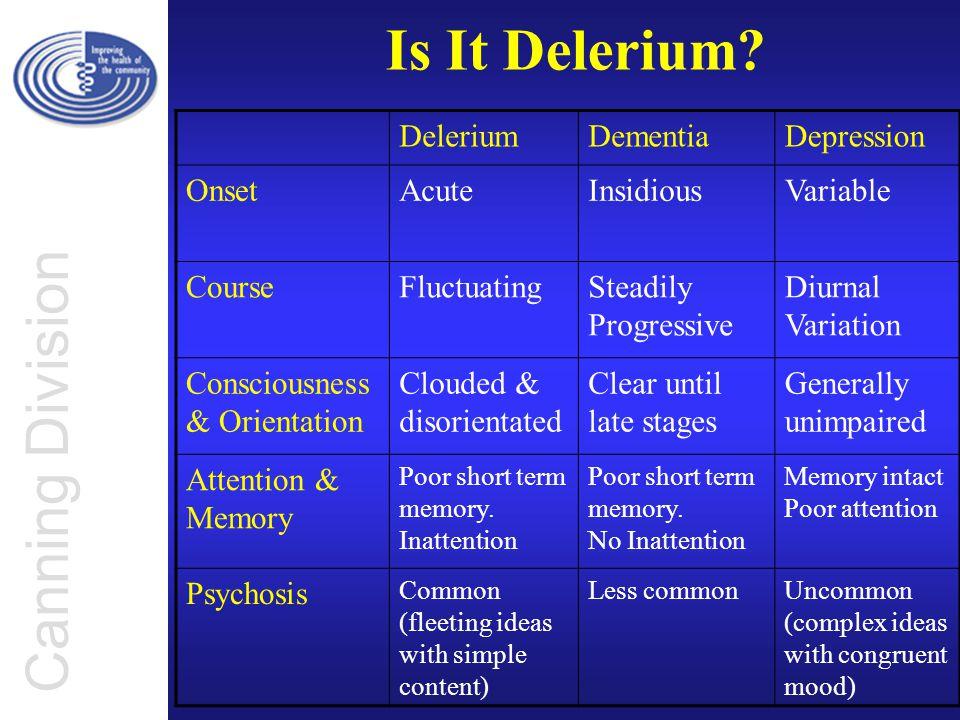 Canning Division Is It Delerium.