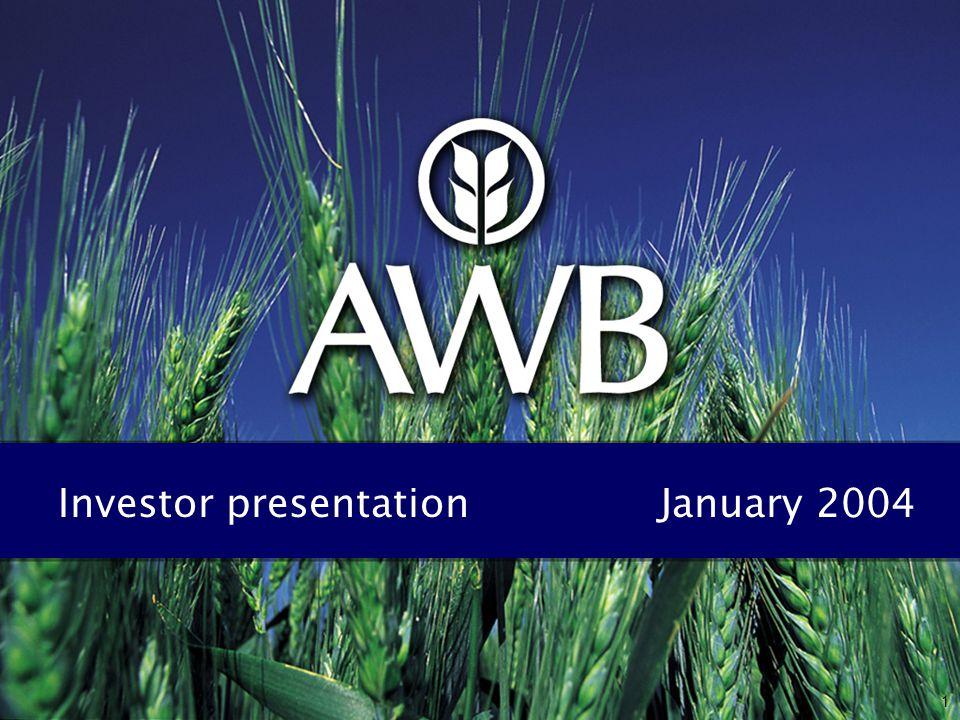 1 Investor presentation January 2004