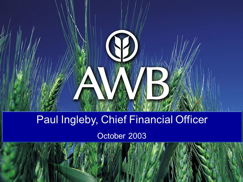 Australia s major grain marketer and one of the world s largest wheat managers and marketers – over 60 years experience in marketing Australian wheat AWB markets wheat and other grains to more than 40 countries and is the world's second largest wheat exporter with 16% global market share (based on 2001-02).