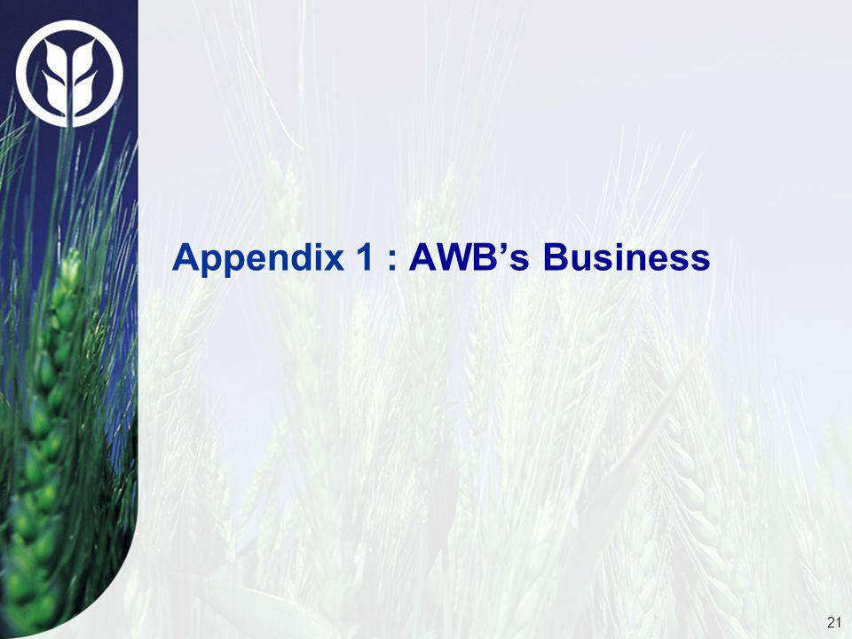 21 Appendix 1 : AWB's Business