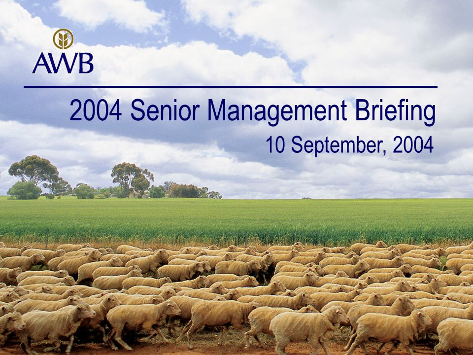 22 Extending and creating value and building the Integrated Business Model Growth Day 1 – August 29 2003 Transition Integration Planning Transaction Integration Project Management Integration June 30 2004 Full completion/transition has now occurred of all Landmark accounting, finance, treasury, business development, HR, risk, corporate insurance, IT, marketing services, stakeholder relations and legal functions within AWB functions Network, IT and HR Integration are on going Integration September 30 2004 Synergy Benefits Completion and Signing Integration of Landmark