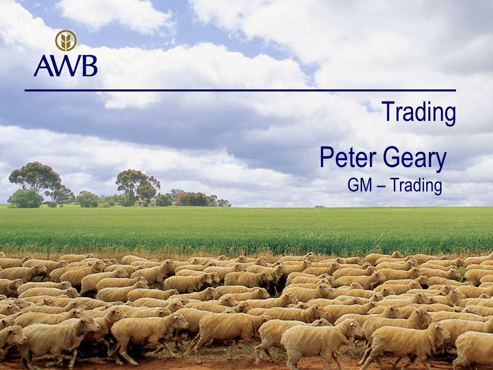 Trading Peter Geary GM – Trading