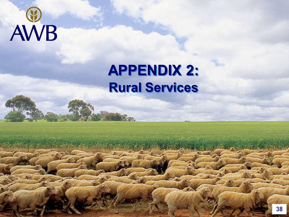 38 APPENDIX 2: Rural Services
