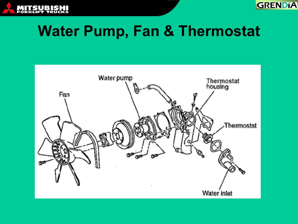 Water Pump, Fan & Thermostat